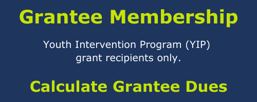 Grantee dues for YIP grantees only. Calculate grantee dues.